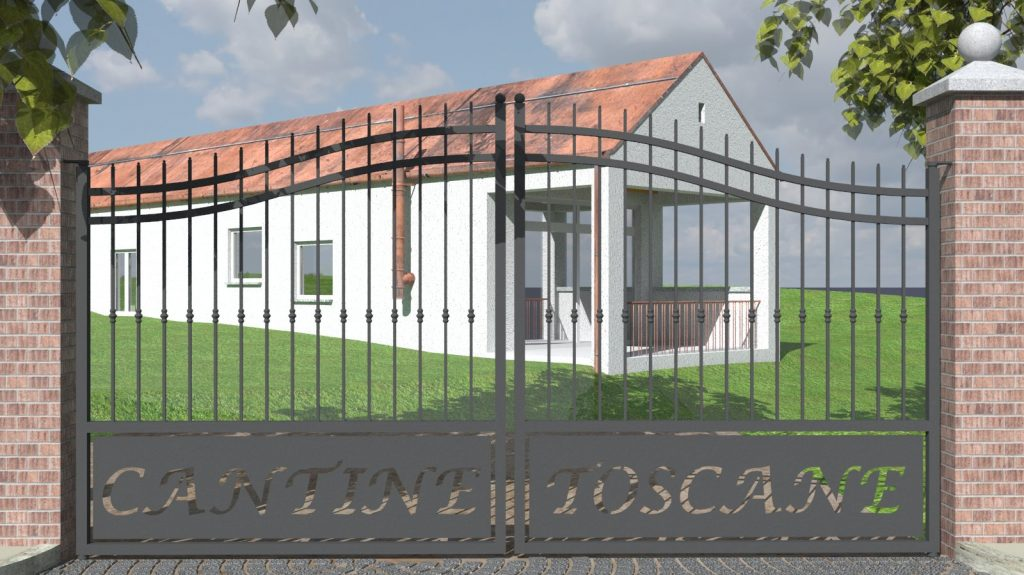 Rendering Cancello Cantine